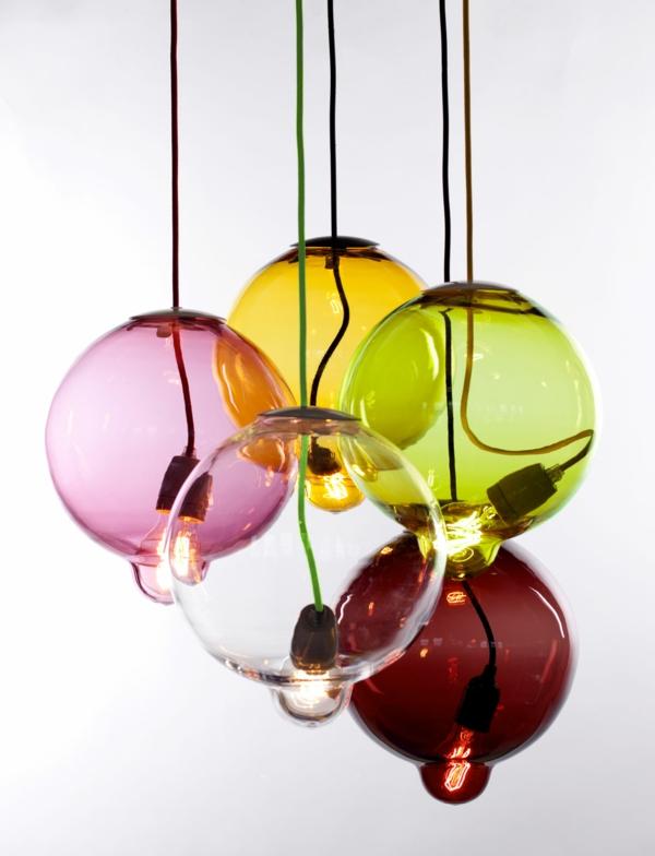 Meltdown Kugellampe aus Buntglas glühbirne