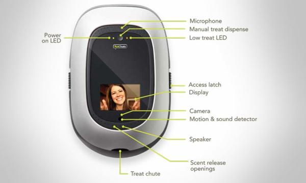 PetChatz Webcam und Futterautomat haustier checken gerät