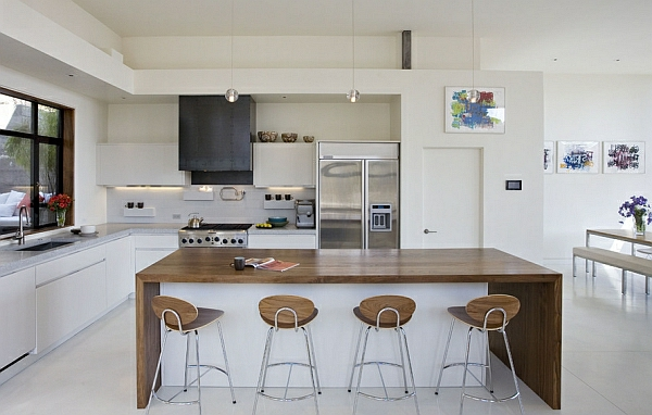 56 trendy barhocker und küchenhocker, die ihre moderne küche vollenden - Küche Weiß Braun