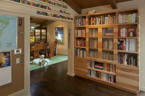raffinierte wandgestaltung durch regale. Black Bedroom Furniture Sets. Home Design Ideas
