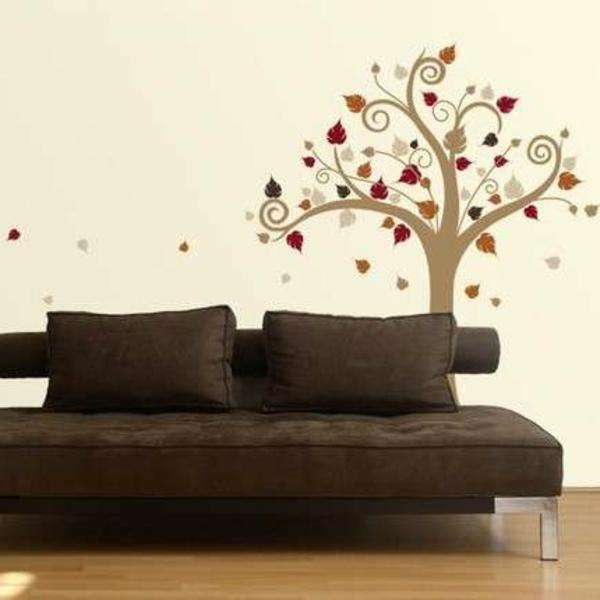 Wandtattoo und Wandsticker als Dekoration sofa braun
