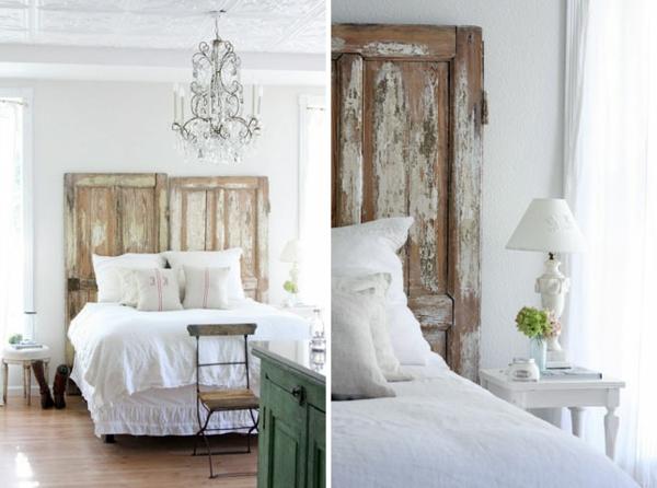 Schlafzimmer komplett gestalten kopfteil rustikal ländlich