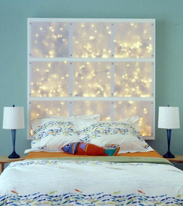 Schlafzimmer Komplett Gestalten Leuchtend Kopfteil Originell