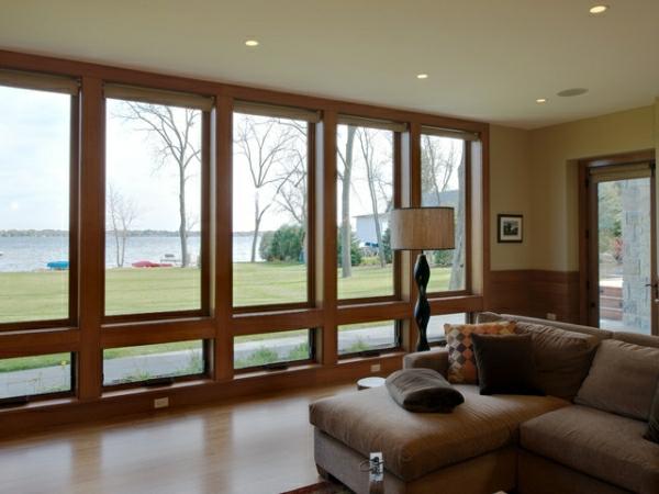 Tageslicht zu Hause mit Stil fenster wohnzimmer ecksofa