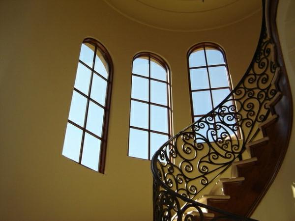 Tageslicht zu Hause mit  Stil treppe geländer ornament