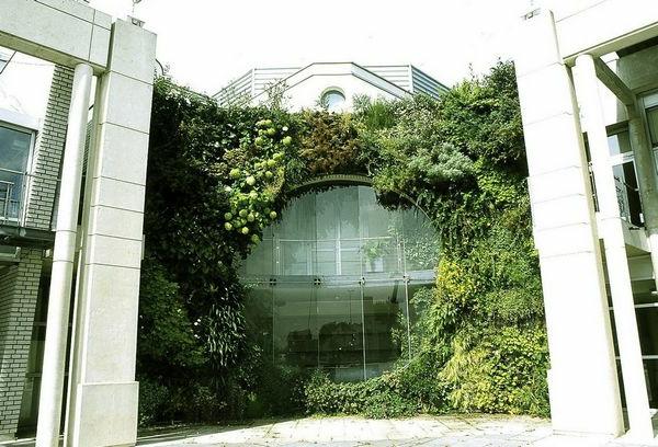 Garten gebäude fassade glas fenster türen
