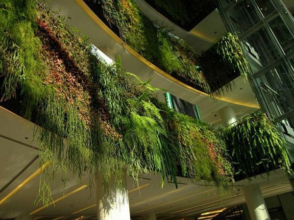 Vertikaler Garten gebäude stadtleben design gestaltung