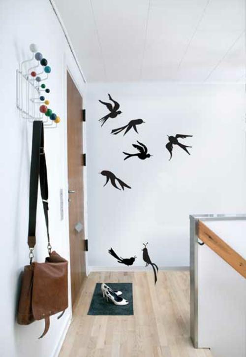 Wanddekoration mit Wandtattoo fliegende vögel