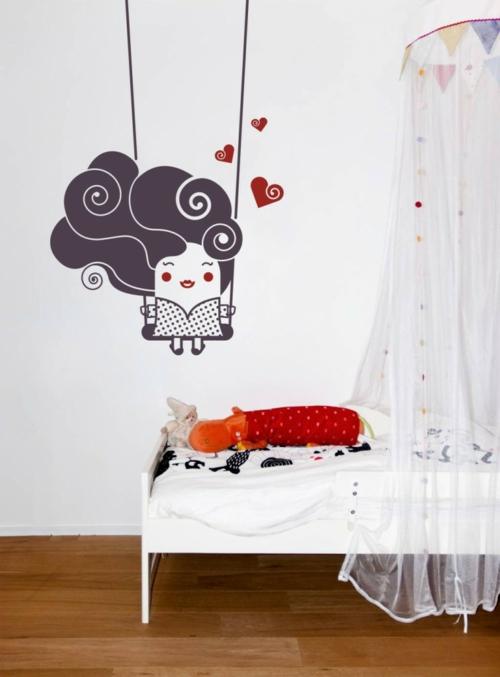 Wanddekoration mit Wandtattoo kinderzimmer wandsticker