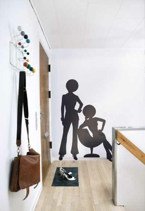 Wanddekoration mit Wandtattoo menschen figuren