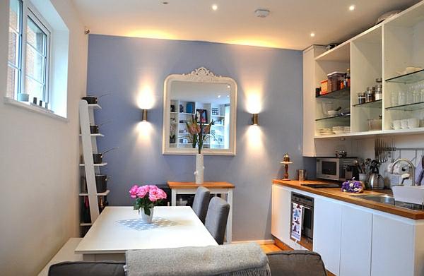 Wohnideen Leiterregal und Dekoartikel funktional wandlampen küche