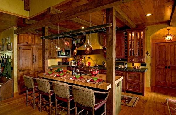 Wohnideen Leiterregal und Dekoartikel holz kreativ vintage DIY küche