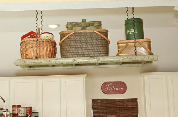 Wohnideen Leiterregal und Dekoartikel klever traditionell küche