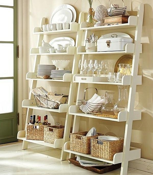 50 wohnideen fur leiterregal und dekoartikel for Standregal küche