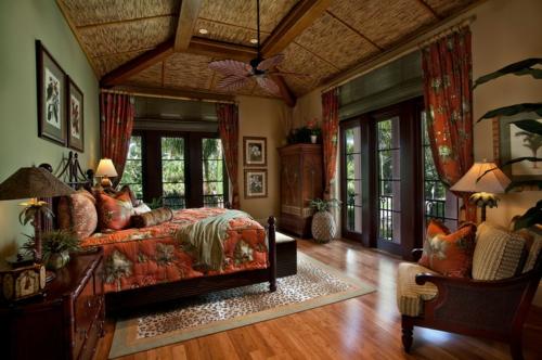 Wohnideen für Deckengestaltung beleuchtung elegant exotisch