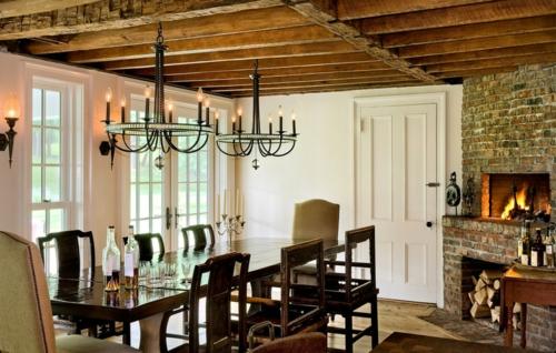 Wohnideen für Deckengestaltung beleuchtung esszimmer