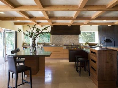Wohnideen für Deckengestaltung beleuchtung küche einrichtung