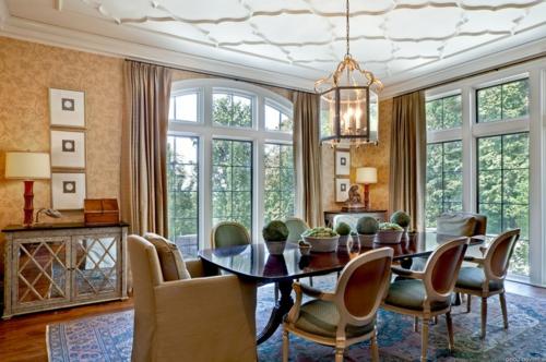 Wohnideen für Deckengestaltung beleuchtung muster formen