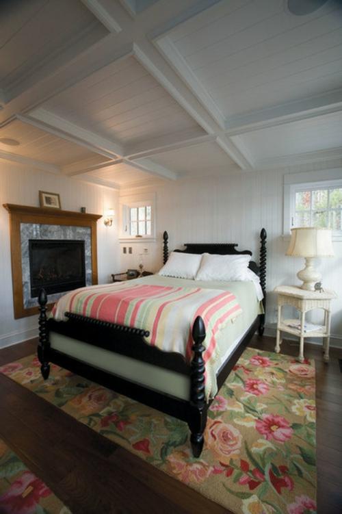 Wohnideen für Deckengestaltung beleuchtung weiß farbe schlafzimmer