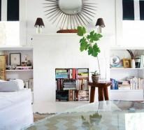 15 clevere Wohnideen für einen cool dekorierten Kamin