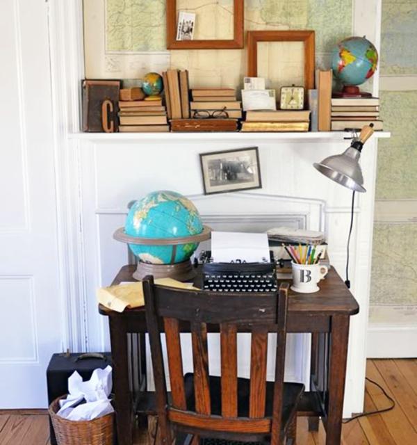 Wohnideen für einen cool dekorierten schreibtisch