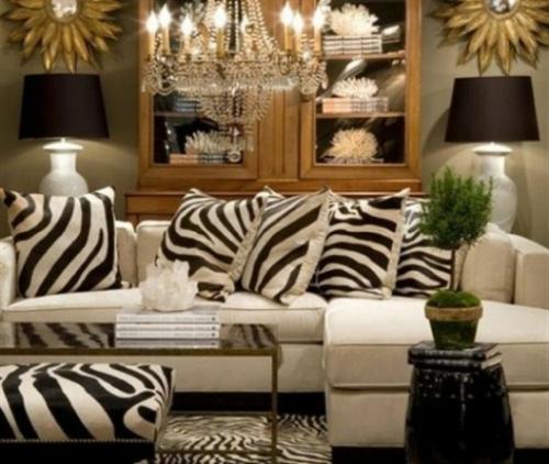 Zebra und Leoparden Muster bei der Inneneinrichtung schrank