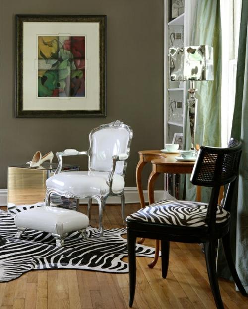 Zebra und Leoparden Muster teppich überzug stuhl