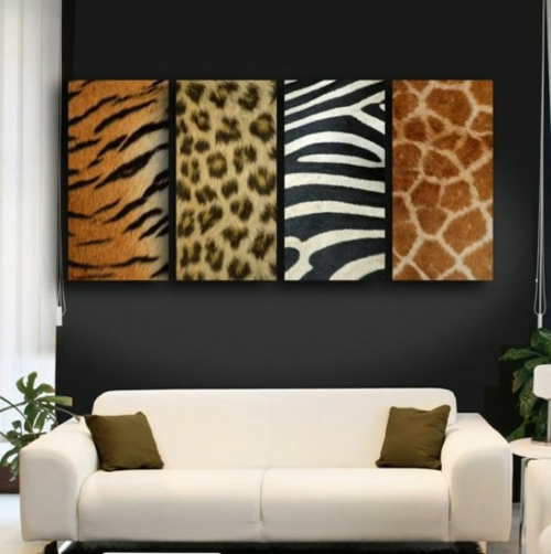 Zebra  Leoparden Muster wandgestaltung deko