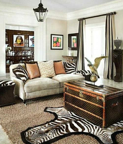 Zebra und Leoparden Muster wurfkissen teppich