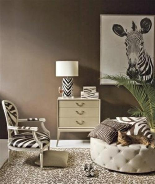 Zebra und Leoparden Muster wurfkissen