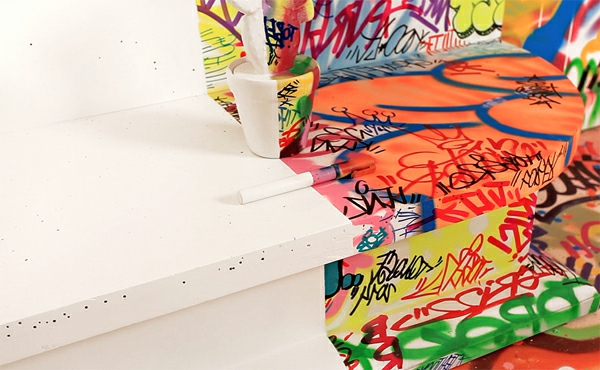 art graffiti design im zimmer