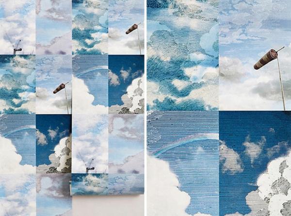 ausgefallene tapeten himmel mit wolken