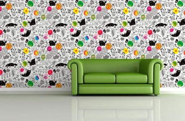 ausgefallene tapeten designs f r ihre schicke wanddekoration. Black Bedroom Furniture Sets. Home Design Ideas