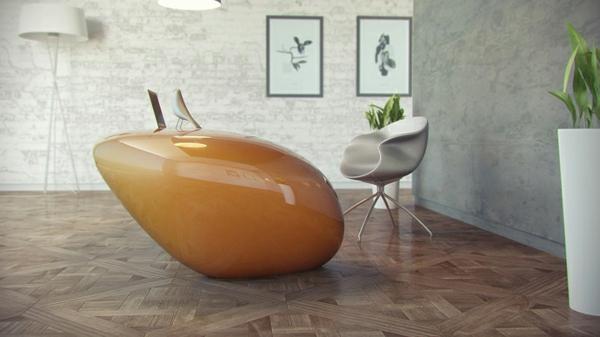 Büromöbel mit fluiden Formen von Nuvist - extravagant und dynamisch