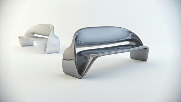 Büromöbel design weiß  Büromöbel mit fluiden Formen von Nuvist - extravagant und dynamisch
