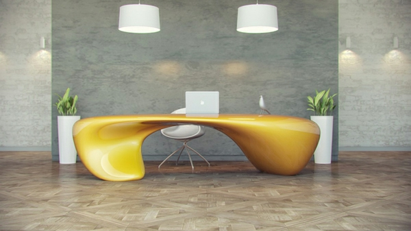 Schreibtisch extravagant  Büromöbel mit fluiden Formen von Nuvist - extravagant und dynamisch