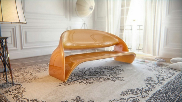 büromöbel moderne sitzbank und perser teppich