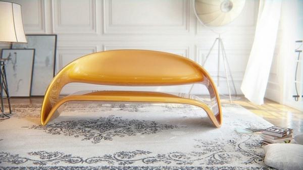 büromöbel oval und glänzend