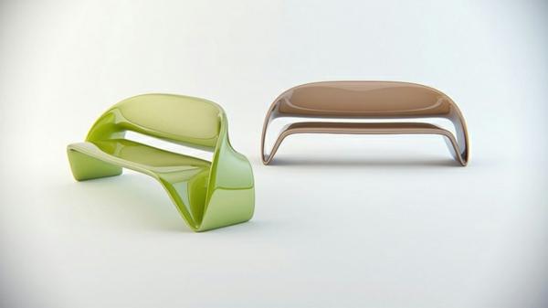 büromöbel sitz in neongrün und mocca
