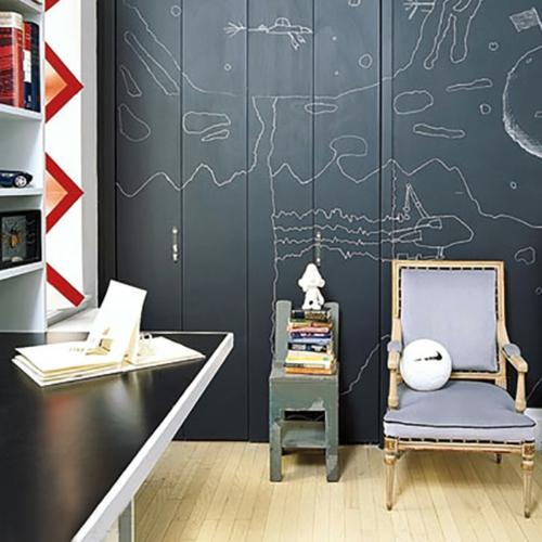 babyzimmer komplett gestalten tafel schrank eingebaut stuhl