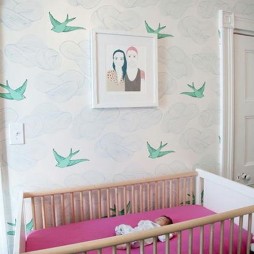 babyzimmer komplett gestalten 25 kreative und bunte ideen. Black Bedroom Furniture Sets. Home Design Ideas