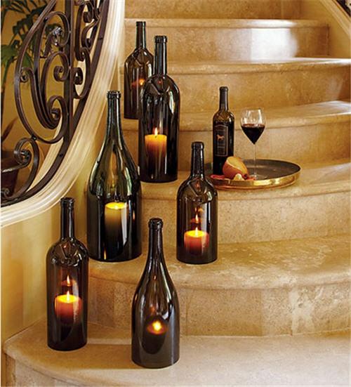 basteln mit glasflaschen 15 kreative und originelle diy ideen. Black Bedroom Furniture Sets. Home Design Ideas