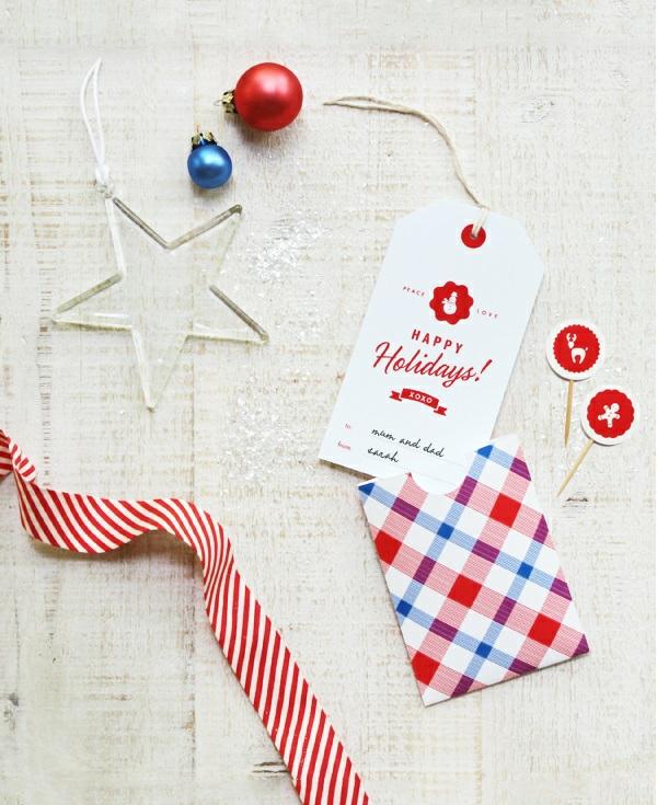 coole Dekoideen für Geschenkverpackung band streifen weihnachtskugel