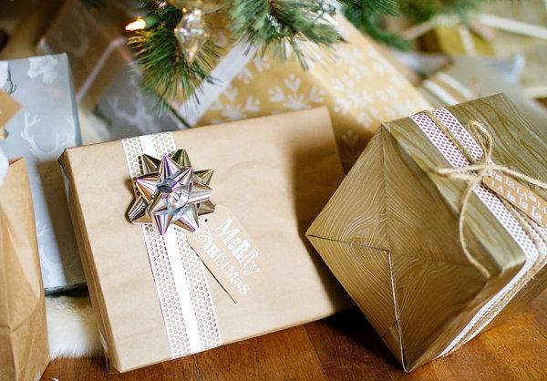 coole Dekoideen für Geschenkverpackung box kasten weihnachten