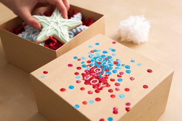 coole Dekoideen für Geschenkverpackung box