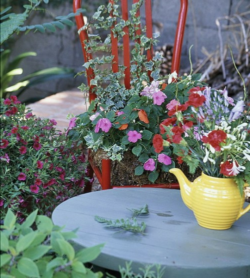 Vintage Blumentöpfe originell dekorativ keramisch kanne