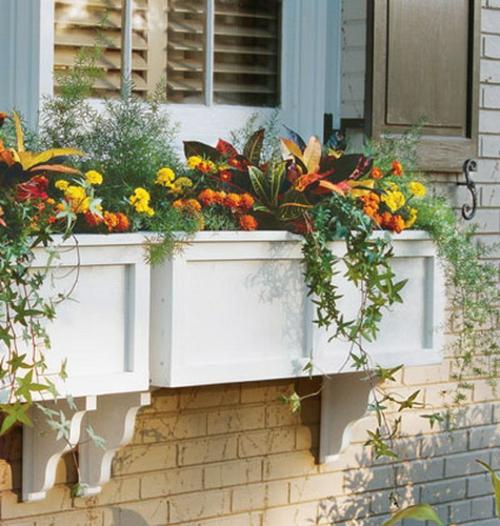 Vintage Blumentöpfe originell fenster kasten