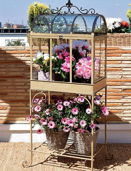 originelle Vintage Blumentöpfe originell ständer pflanzen