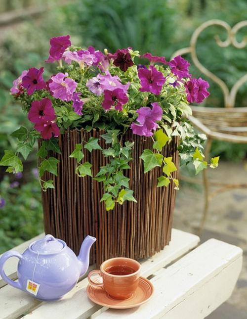 coole Vintage Blumentöpfe originell tisch blickfang
