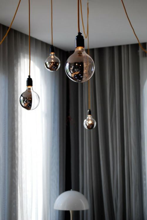 diy lampen aus glühbirnen hängeleuchten glanzvoll